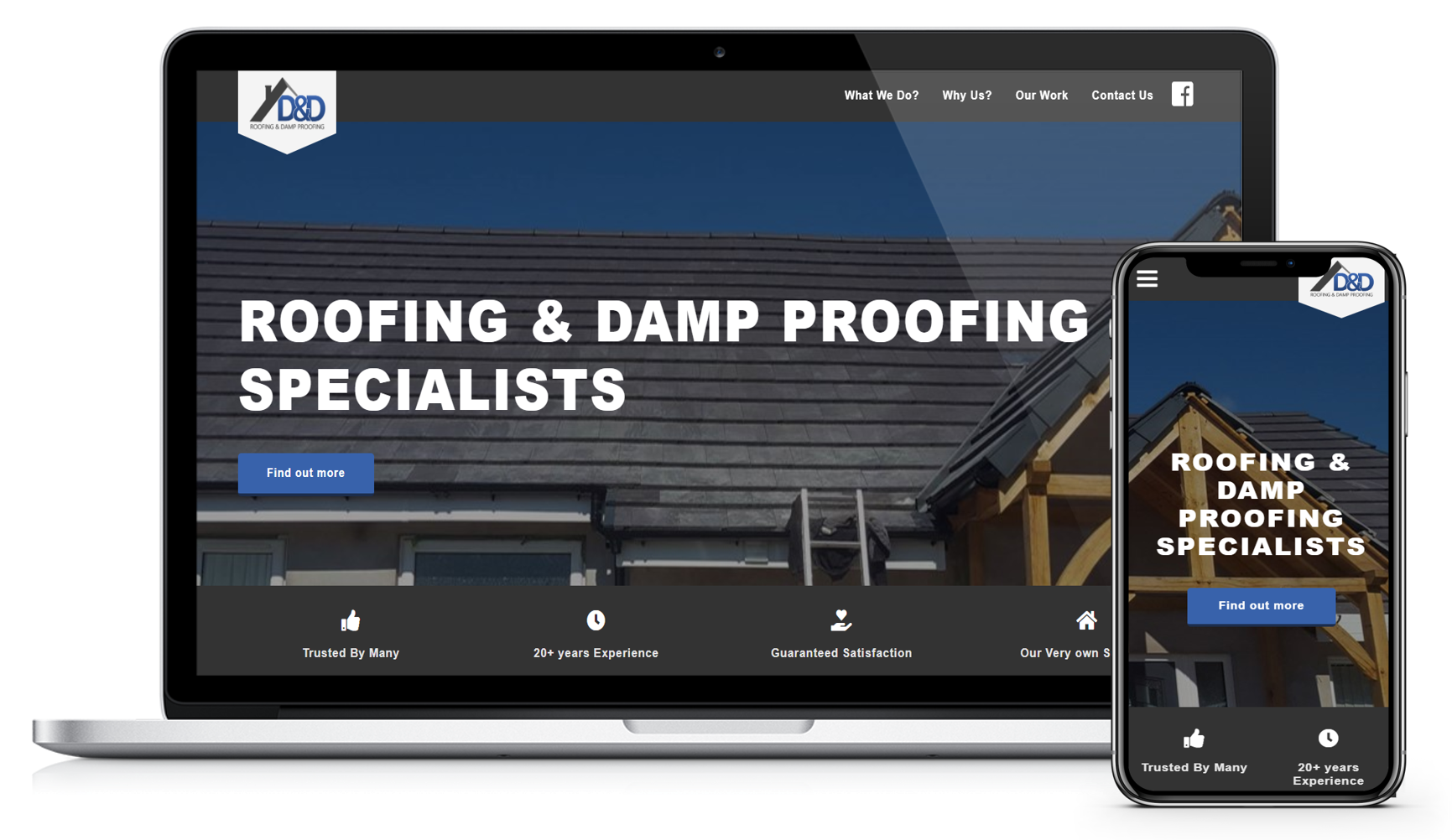 D&D Roofing Website